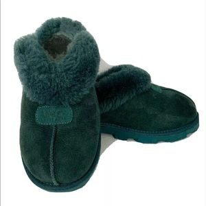 UGG Coquette Atlantic Blue/Green Mule Slippers